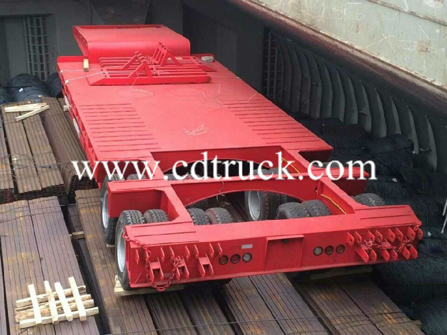 low flatbed semi trailer