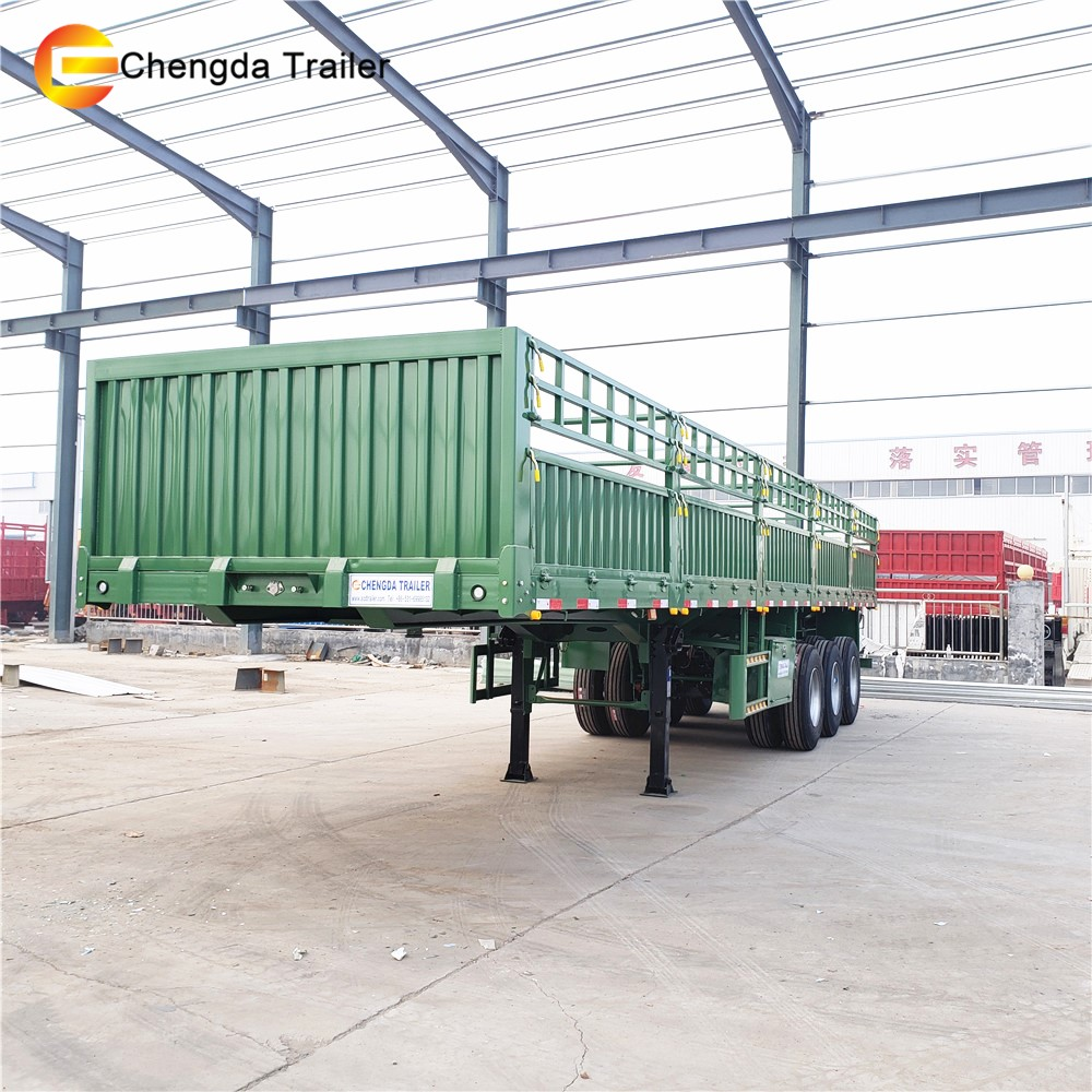 3 Axle 40ton 60ton New Army Truck Trailer Side Wall Trailers for Sale