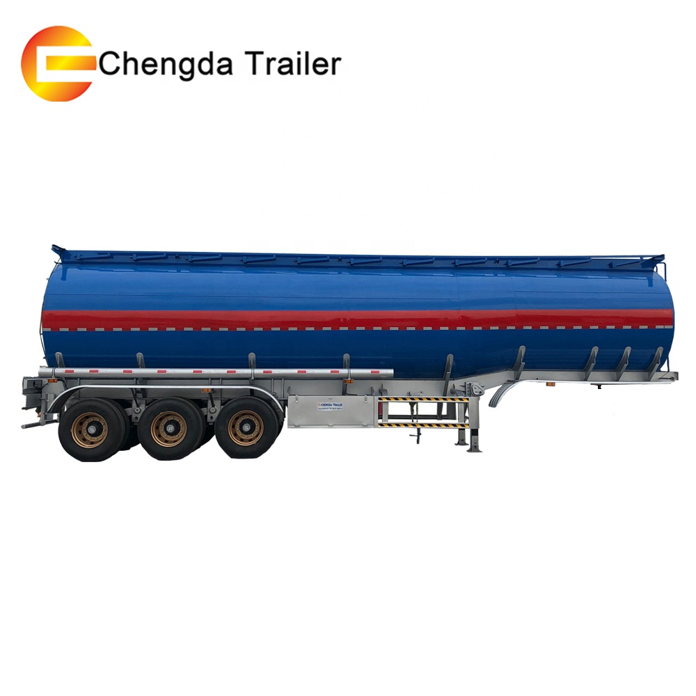 Factory Best Price 3 Axles 42000 liters Oil Fuel Tanker tank semi trailer