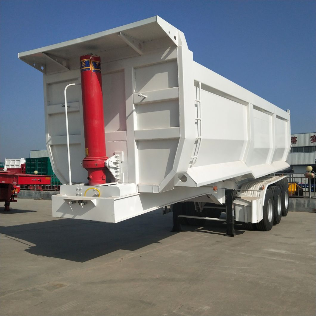 2/3 Axle 50 Ton Tipping Cargo Utility Heavy Duty Tipper Ladder Transport Sand Truck and Stone Rear Dump Semi Trailer