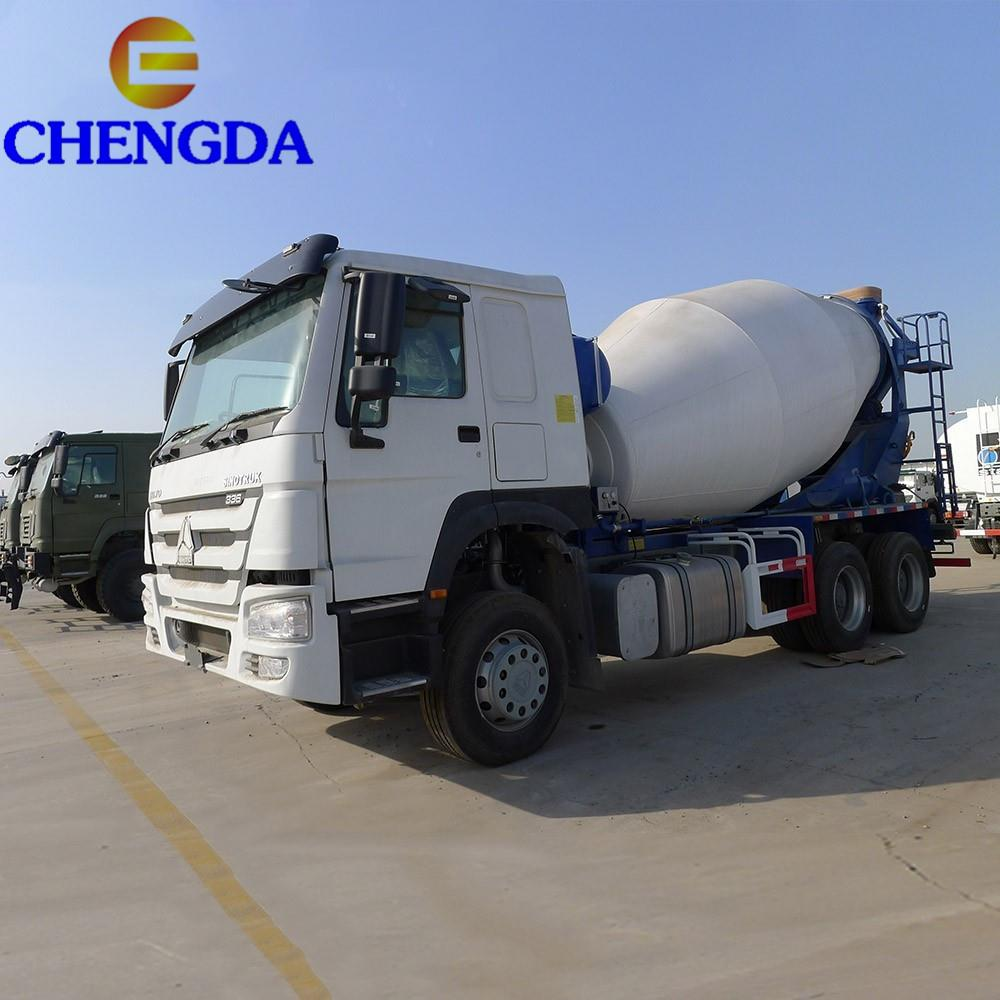 Blue concrete mixer truck  (20)