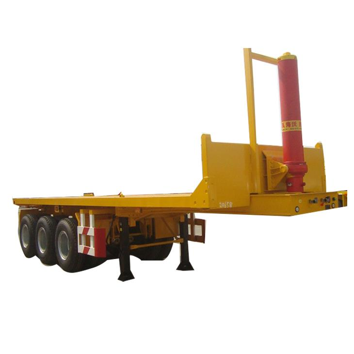China New Tri Axles 40 Ton Hydraulic Container Dump Semi Trailer