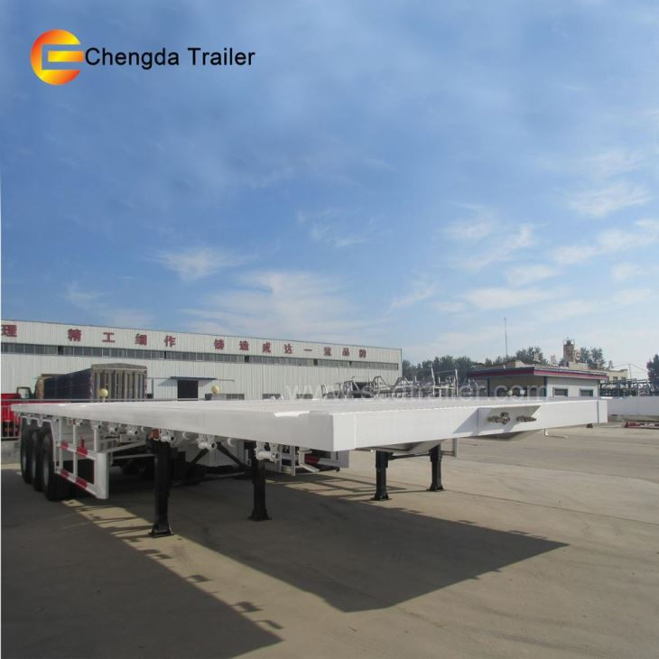 Factory Direct Sale 3 Axle Trailers 40ft 43ft Flat Bed Container Semi Trailer Low Price