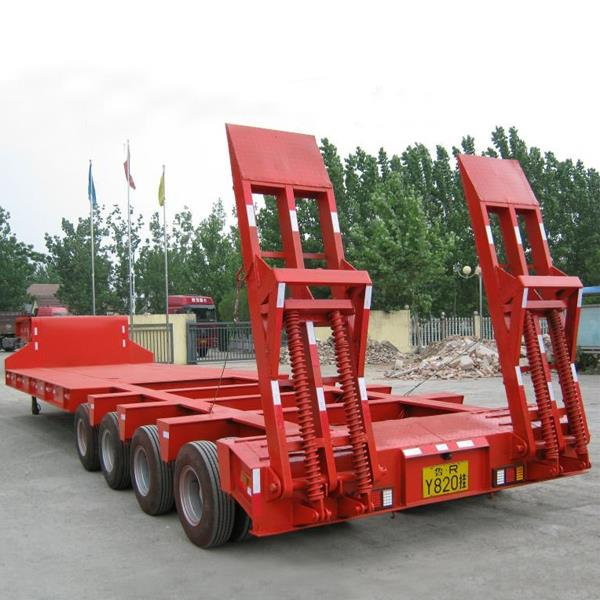 4 Line 8 Axles 120 and 150 tons Gooseneck Equipment Lowboy Low Bed Trailer