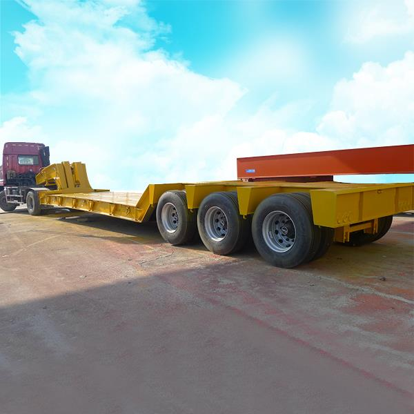 Front Loading Detachable Hydraulic Gooseneck Low Bed Boy Trailer for Sale
