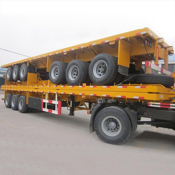 Tri Axle 40 50 Tons 40ft Flat Bed flatbed Container Semi Trailer