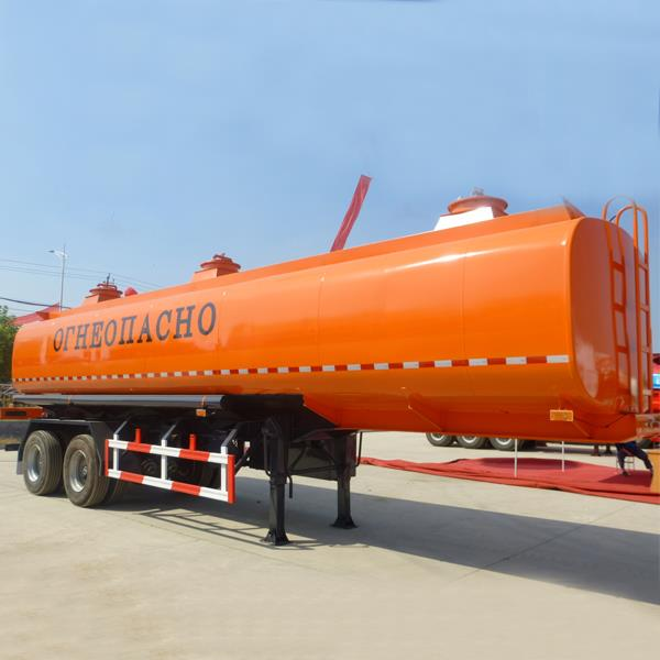 2 Axles Bogie Suspension Stainless and Carbon Steel 35000 Liters Diesel Fuel Tanker Trailer