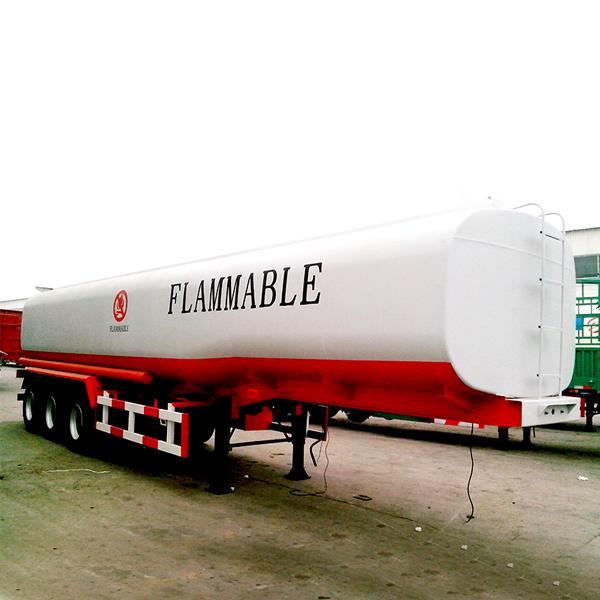 3 Axles 45000 Liters Petrol Oil Fuel Tanker Storage Tank Semi Trailer Price for Sale