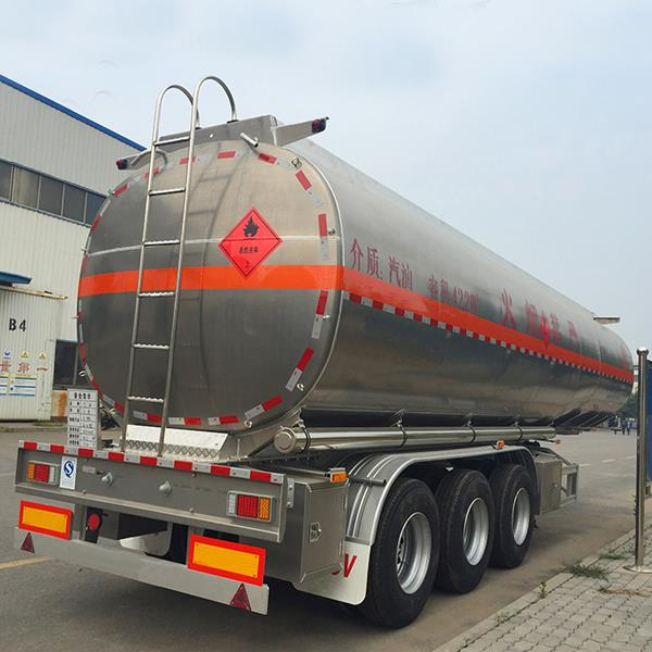 3 Axles Ss Stainless Steel Fuel Oil Tanker Tank Trailer Price