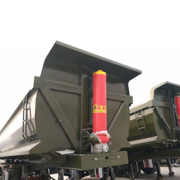 3 Axles 40 CBM 60tons HYVA Hydraulic End Dump Tipper Tipping Construction Semi Trailer Price