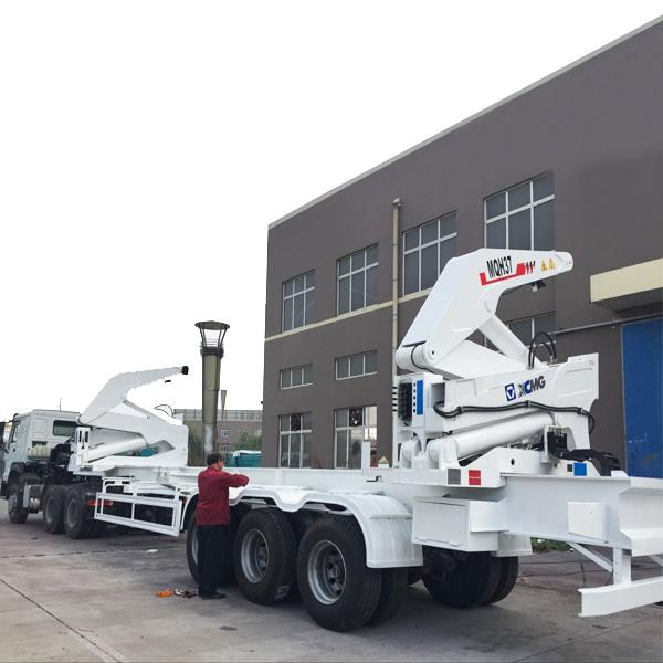 XCMG 40ft Sidelifter Self Loading Sidelifter Container Crane Trailer Truck