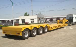 3 Axles 80tons To 200 Tons Hydraulic Gooseneck Lowboy Lowbed Semi Trailer