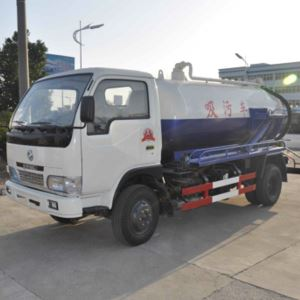 Dongfeng 4x2 6 Wheel 3m3 Sewage Suction Truck