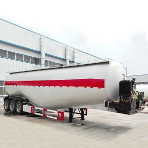 Tri Axles 65CBM 80 Tons W Shape Bulk Cement Tank Tanker Trailer