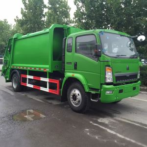 Chinese SINO TRUCK HOWO 4X2 Cheap 6 Wheeler Sanitation Garbage Compactor Truck