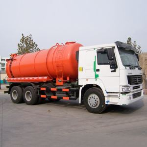 China SINOTRUK HOWO 6X4 Cheap 10 Wheeler Vacuum Suction Sewage Tank Truck