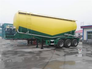 China 3 Axles 33CBM Bulk Cement Tanker Tank Semi Trailer with Air Compressor