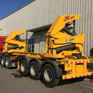 China New Tri Axles 20 & 40 Feet Container Side Loader Trailer