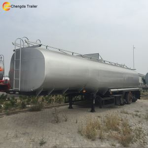 Tri-axle 36000 Litres Oil Milk Fuel Tank Tanker Truck Trailer for Sale