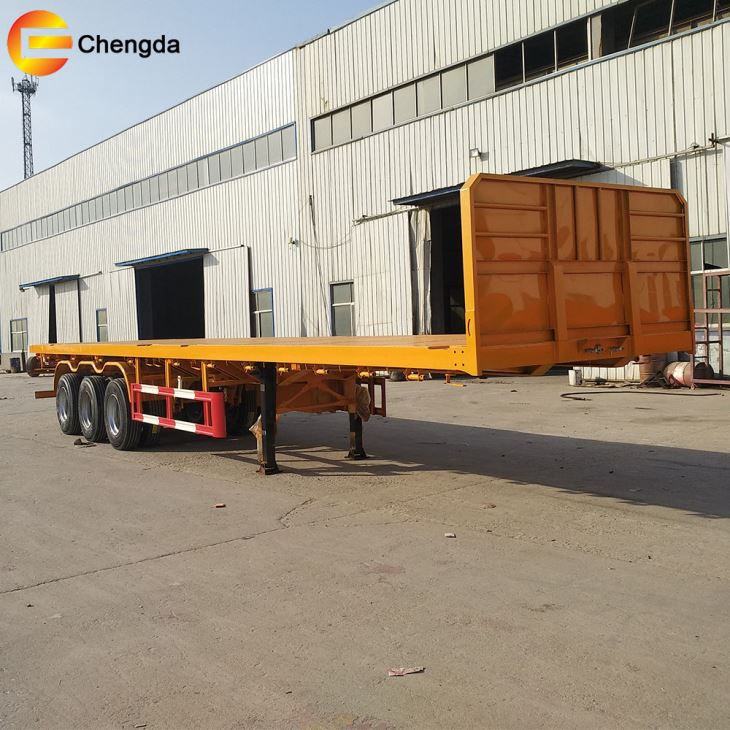 3axles 2 Axles Container Flatbed Long Truck
