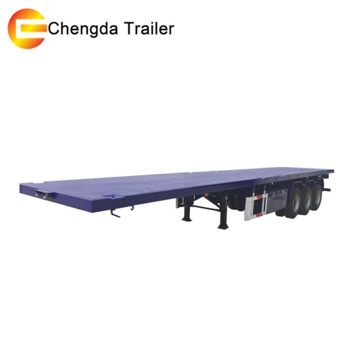 3 Axles 40 Ft Extendable Container Flatbed Wind Blade Semi Trailer