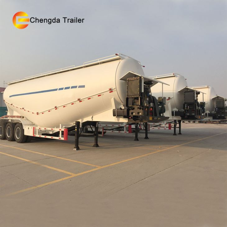 3 Axles 55CBM 70 Tons Bulk Tanker Tank Cement Bulker