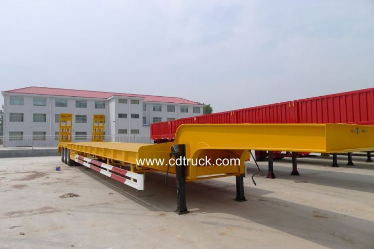 3 Axles 60tons Stock Gooseneck Lowboy Low Loader Lowbed Truck Trailer