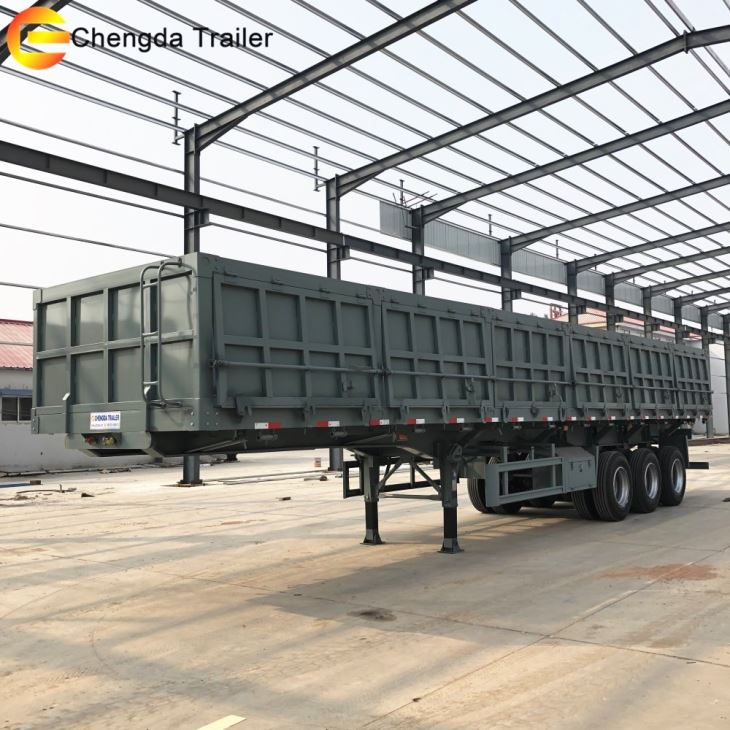 3 Axles Hydraulic Side Tipper Trailer