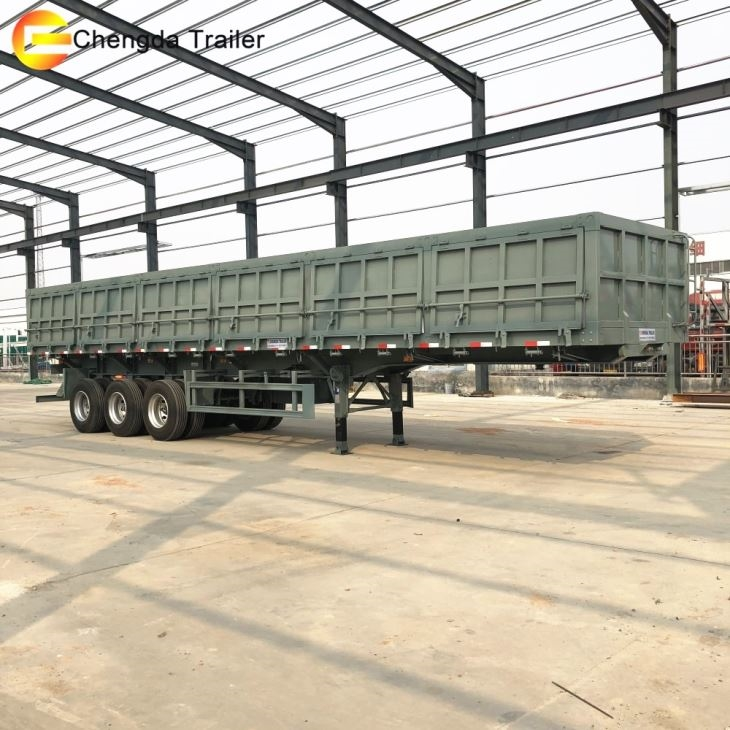 3 Axles Side Tipper Dump Trailer