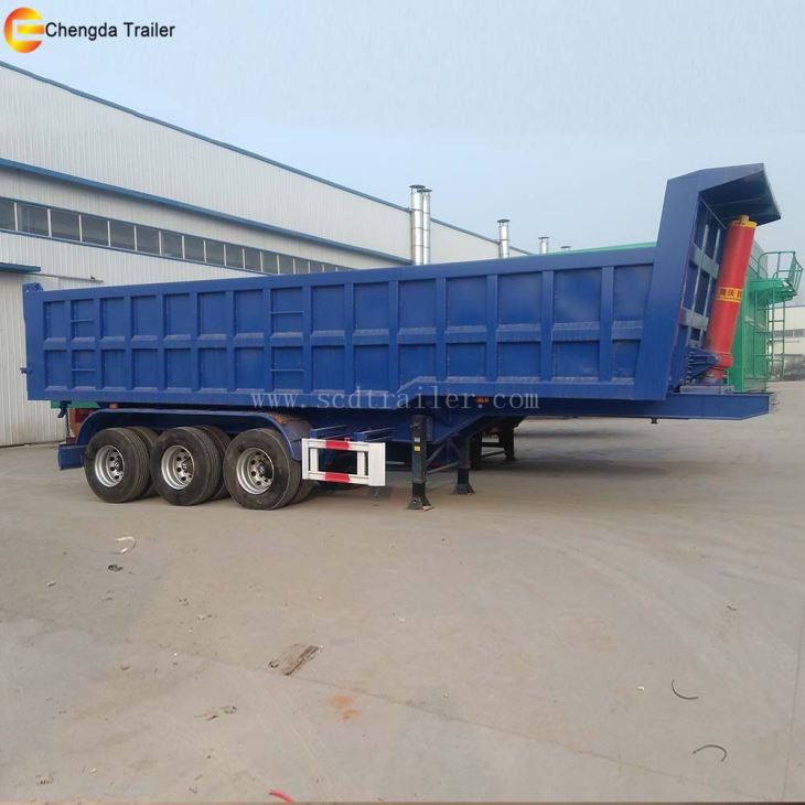 35cbm 3axles End Dump Trailer