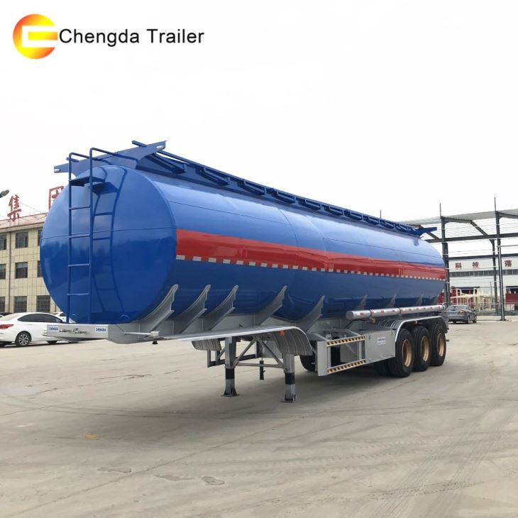 3axles 36000L Gasoline Fuel Tanker Semi Trailer