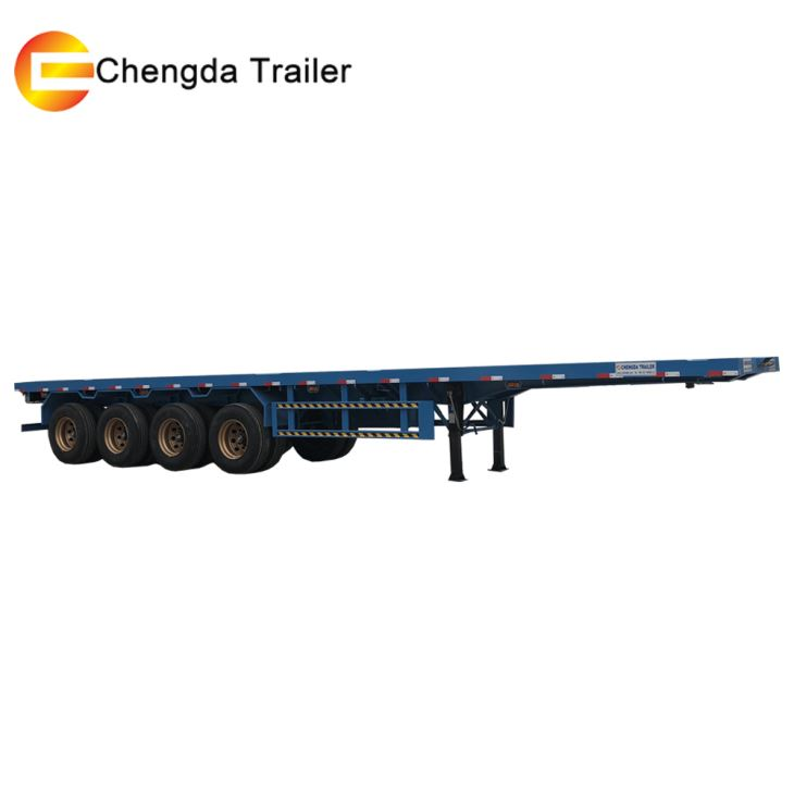 4 Axles 40ft Container Flatbed Trailer