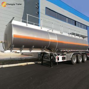 3 Axle 45000 Liters Fuel Milk Tankers Tank Trailer For Sale