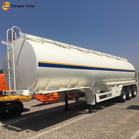 3 Axle 45000 Liters Oil Tanker Fuel Tank Semi Trailer With Low Price