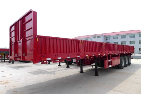 3 Axle 60 Ton Side Wall Cargo Semi Trailer