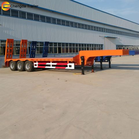 3 Axles 60ton Standard Lowbed Semi Trailer For Africa