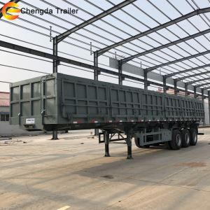 3 Axles 80tons Hydraulic Side Tipper Dump Trailer