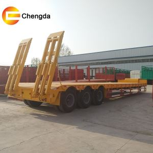 3axle 60tons Lowbed Semi Trailer With Low Price From Factory