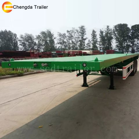3axles FlatBed Container Transportation Trailer