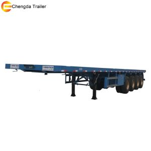 4axles 40ft 45ft Flat Bed Container Semi Trailer