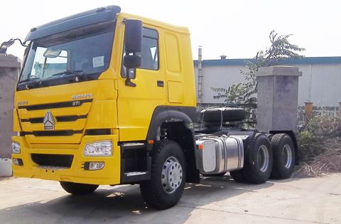 Left Hand Drive Trailer Truck Head Terminal Container Tractor Truck For Sale