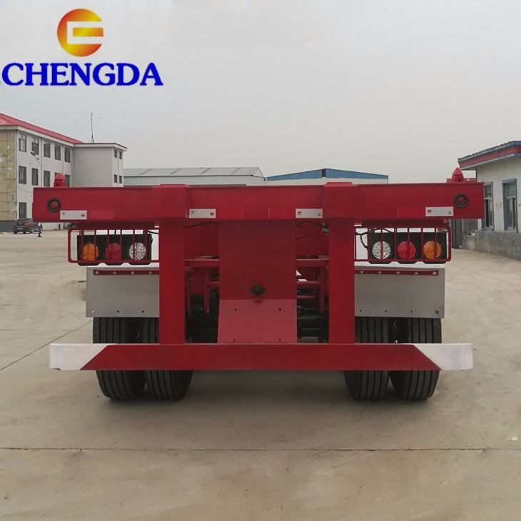 2 3 Axles 40ft Skeleton Container Semi Trailers Chassis Frame Container Truck Skeleton Semi Trailer