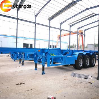 2 Axle 20feet Contianer Chassis Skeleton Trailer In Philippines