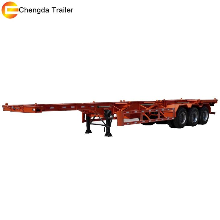 20ft 40ft Skeleton Trailer Container Chassis For Philippines