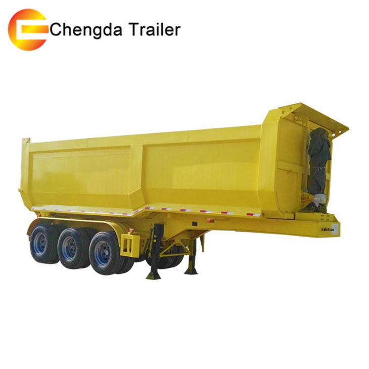 3 Axle 35CBM 40ton Dump Trailer In Philippines