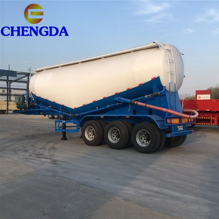 3 Axles 35 45CBM 60 Tons Bulk Cement Bulker Tanker Tank Trailer