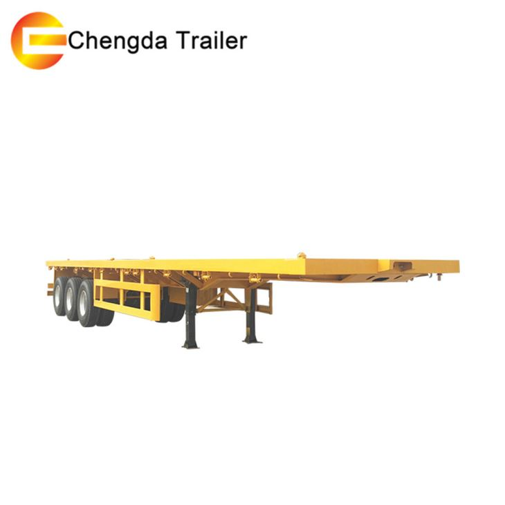 3 Axles 40ft Flatbed Trailer Container Trailer