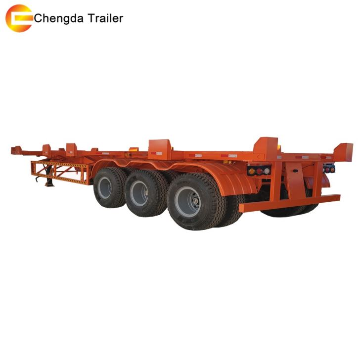 3 Axles Quick Transport Container Skeleton Trailer