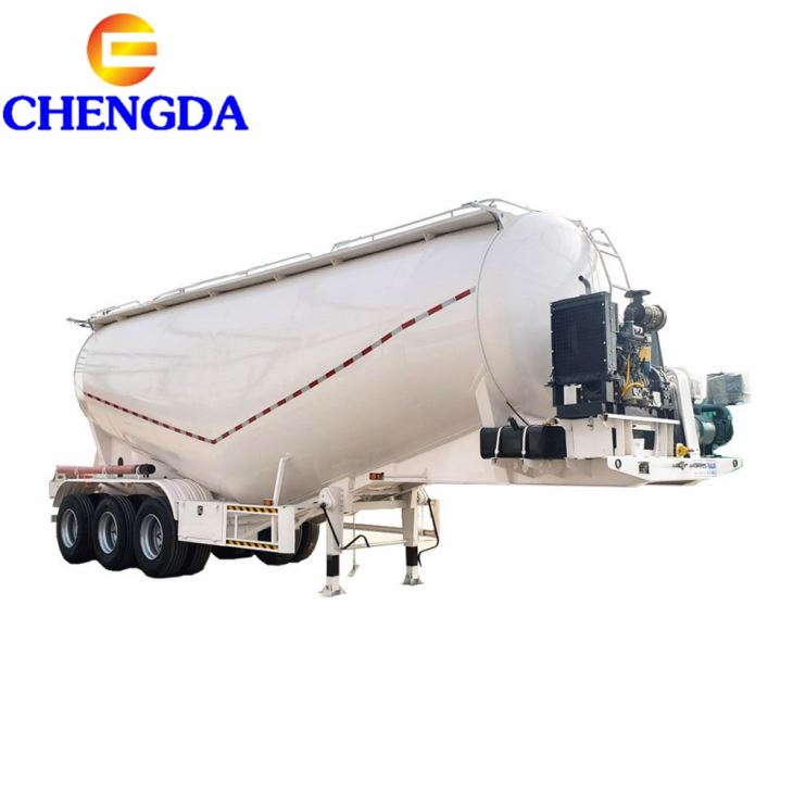 3axle 40cbm 60cbm Air Compressor Bulk Tank Cement Bulker Tanker Semi Trailer