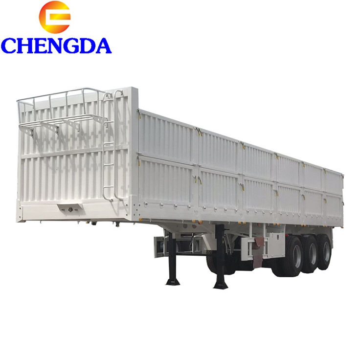 40tons Side Wall Flatbed Container Trailer